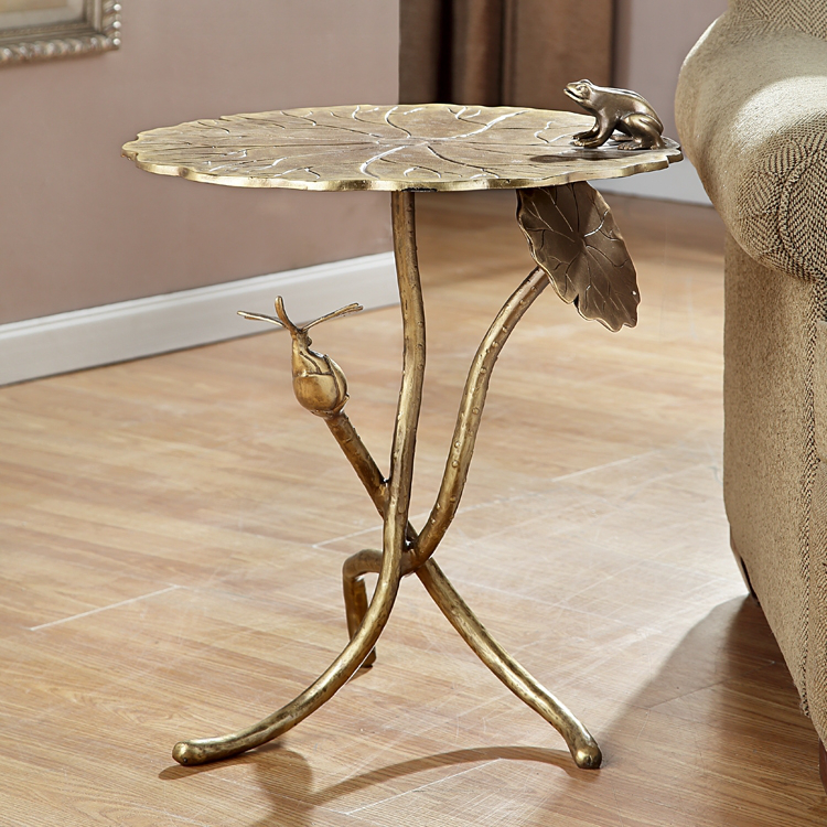 Superior Frog And Dragonfly End Table