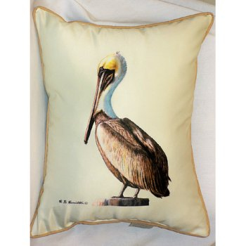 Nautical Bathroom Decor On Pelican Outdoor Pillow Beach Decor Shop