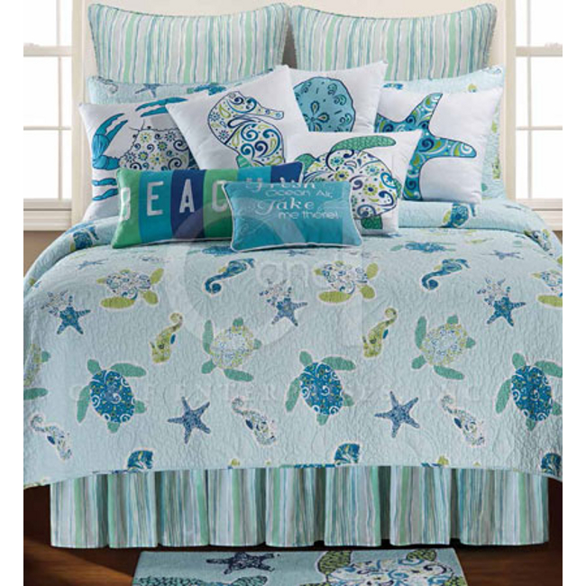Imperial Coast Sea Turtle Beach Bedding