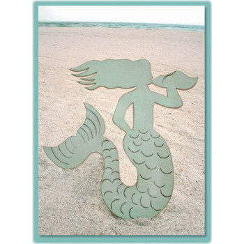 Wooden Mermaid Wall Hanging mermaid wooden plaque