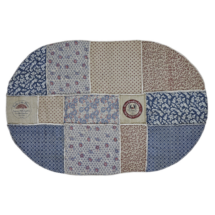 Large Oval Area Rugs: Millie Patchwork Oval Rug-Large
