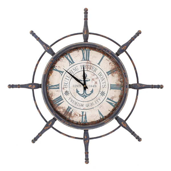 Nautical wall clock for Seashell wall clock