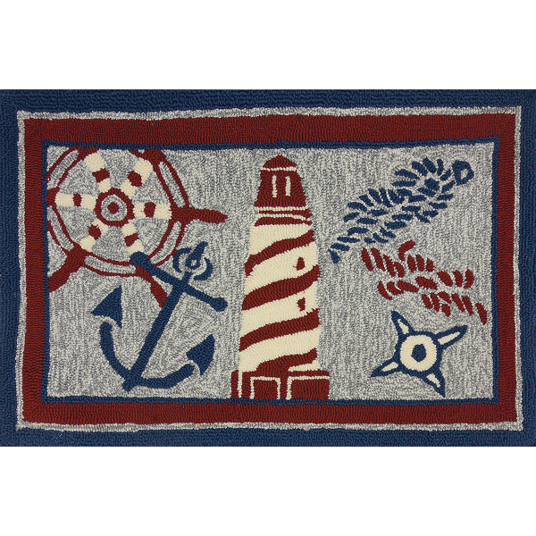Anchor Rugs: Nautical Element Accent Rug