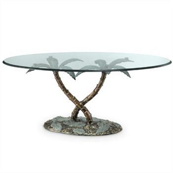 palm tree coffee table With palm tree coffee table