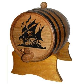 Pirate Ship Oak Barrel