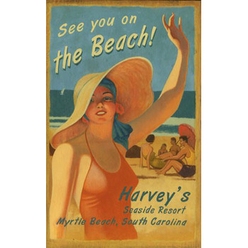 On The Beach Personalized Beach Wood Sign