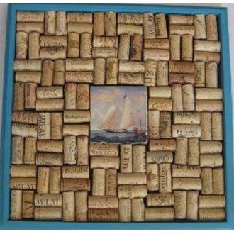 Sailboat Tile Cork Board Craft Kit