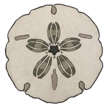 Sanddollar Round Hook Rug