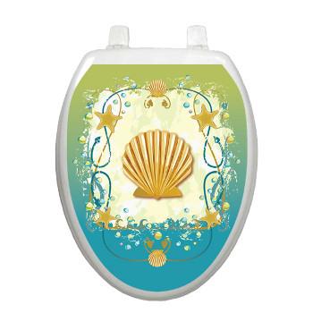 Shell game toilet seat decoration - Deco toilettes ...