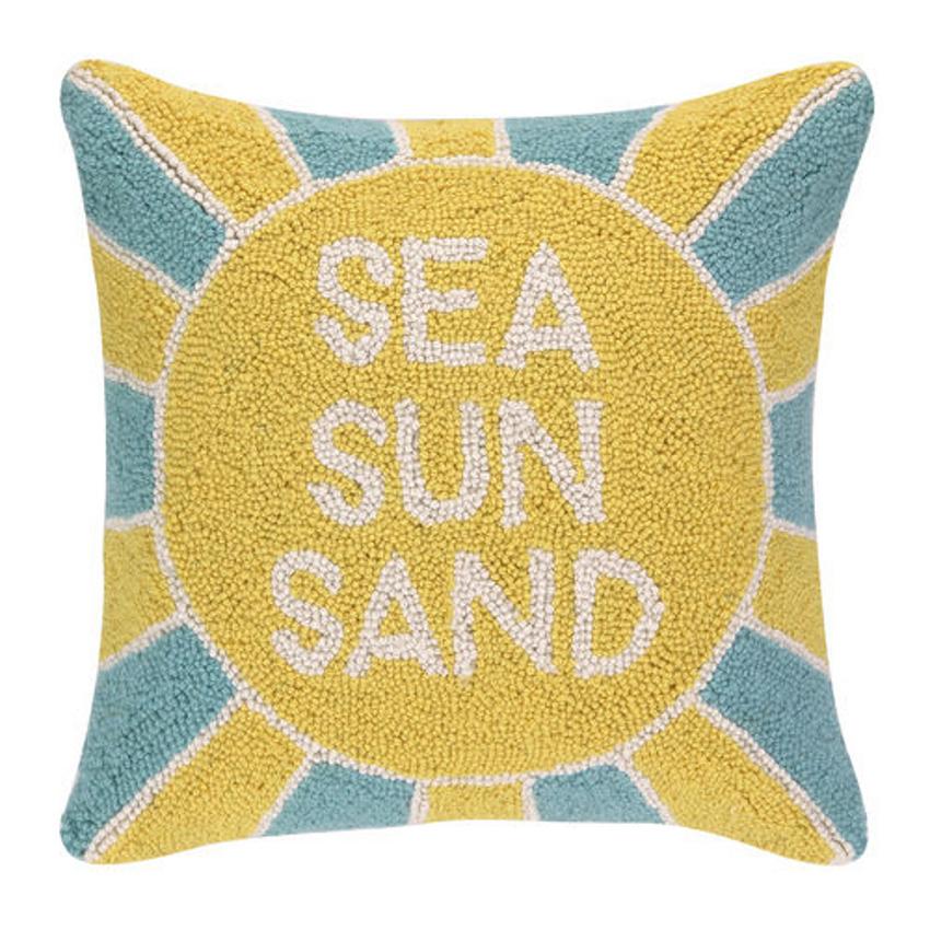 Sea Sun Sand Hooked Pillow