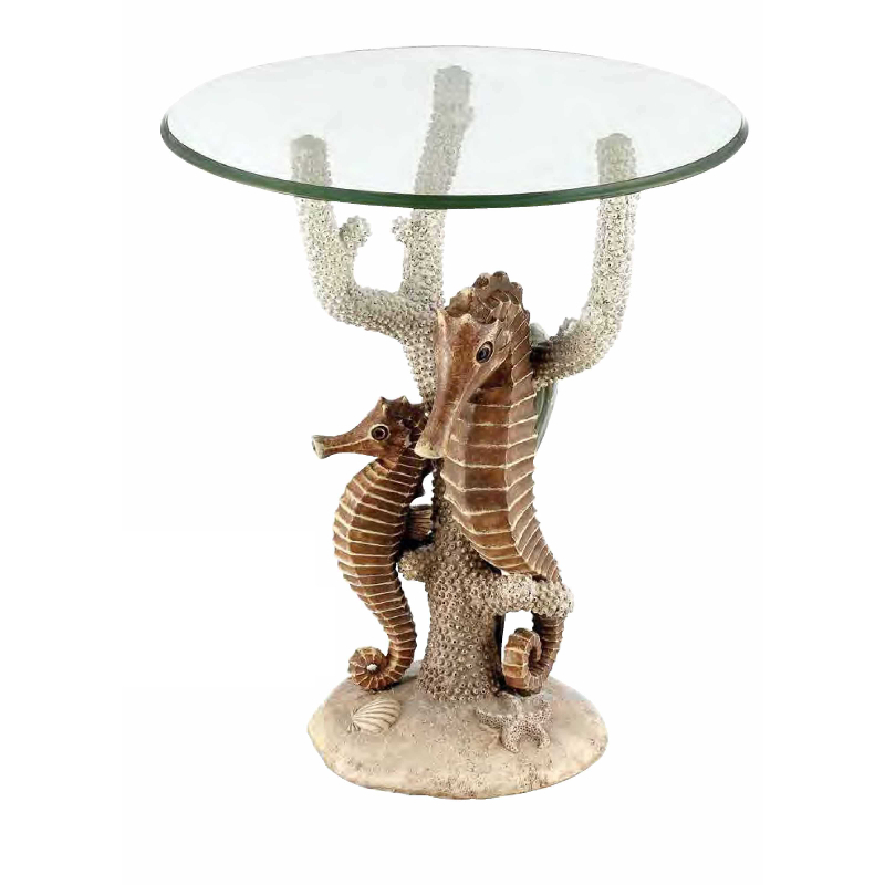 Sealife Seahorse Accent Table