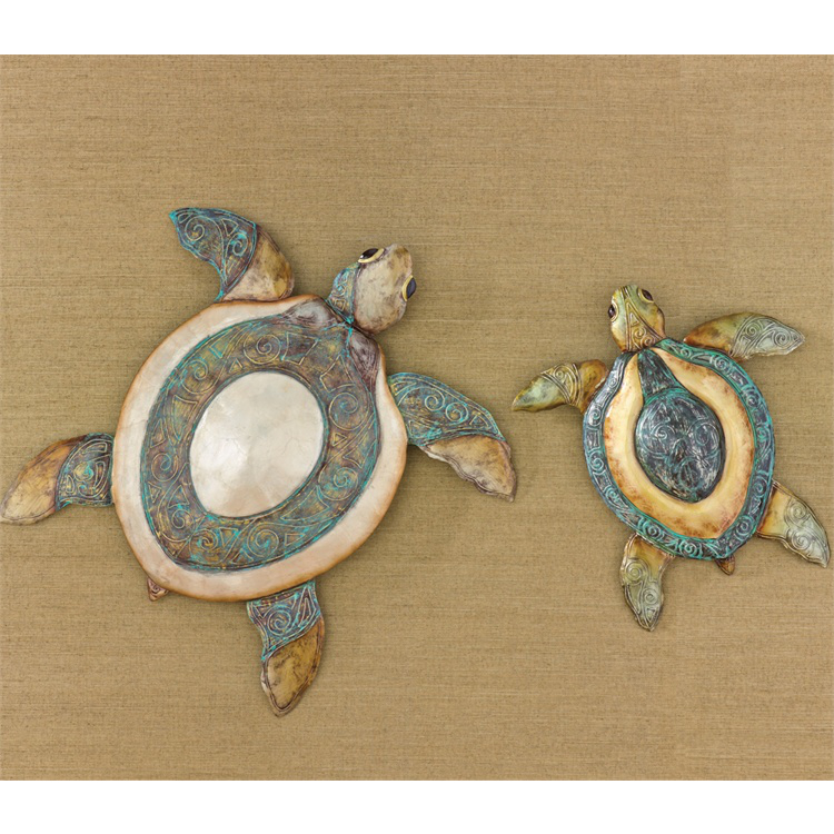 Sea turtle wall decor set of 2 Turtle decorations for home