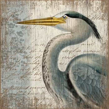Blue Heron Wall Art (20x20)