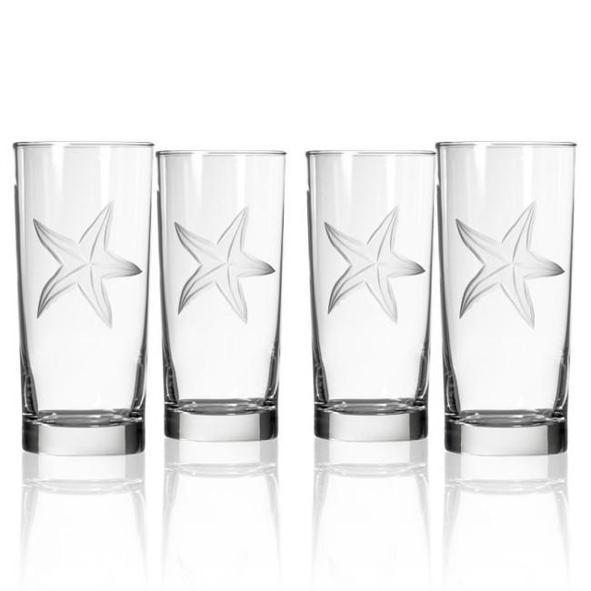 Palm Tree Cooler Glasses (Set of 4)