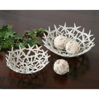 Starfish Bowls with Spheres, S/5