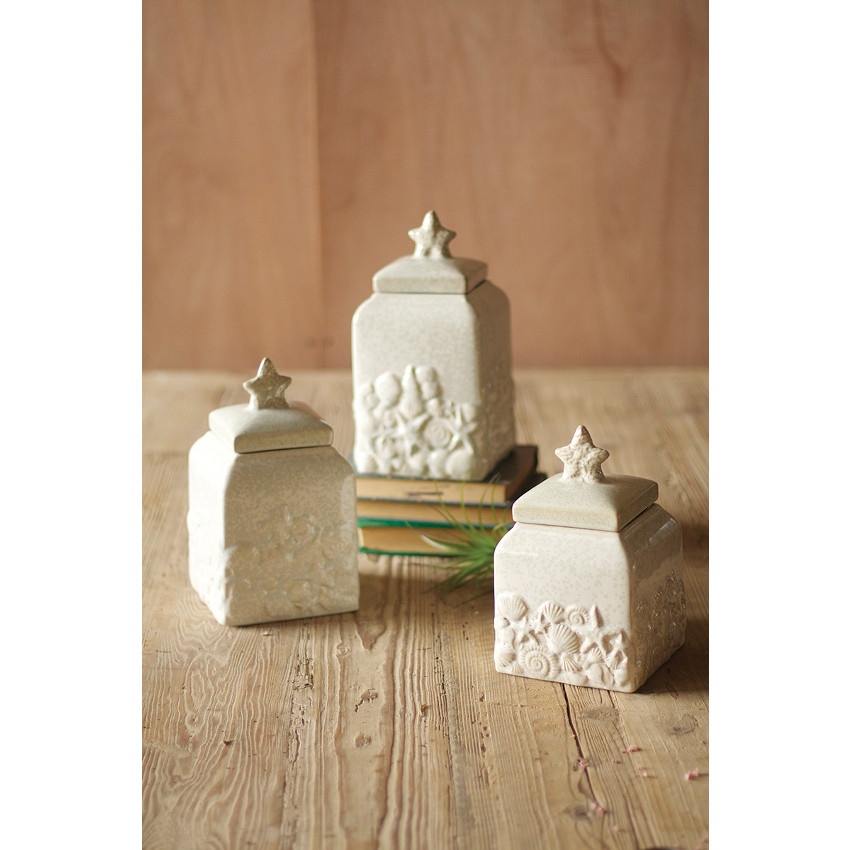 Seashell Canister Set