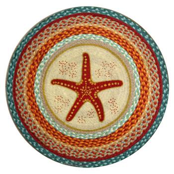 Starfish Braided Jute Round Rug