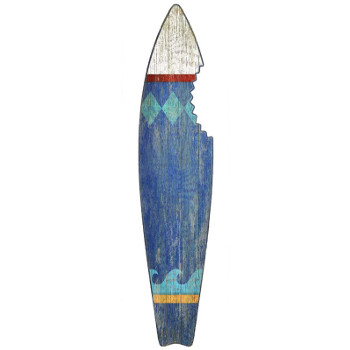 Surfboard Wall Art   Blue