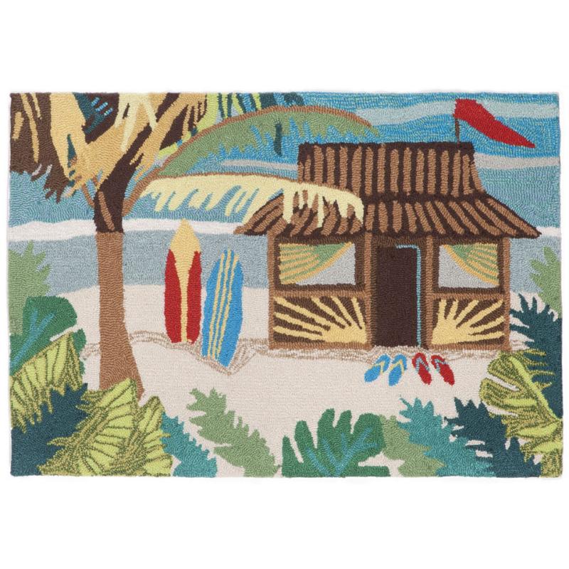 Tiki Hut Indoor Outdoor Rug