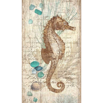 vintage seahorse wall art. Black Bedroom Furniture Sets. Home Design Ideas