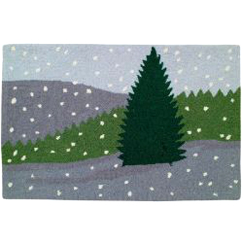 Winter Scene Holiday Rug