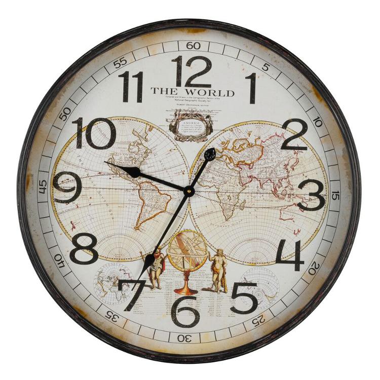 world map clock. Black Bedroom Furniture Sets. Home Design Ideas