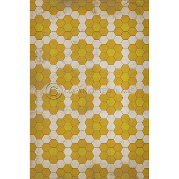 Yellow On Yellow On White Pattern Indoor Outdoor Rug