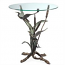 Crane Pair In Flight End Glass Top Side Table