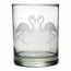 Flamingo Etched DOR Glasses (set of 4)