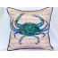 Male Blue Crab  Beige Large Outdoor Pillow