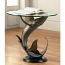 Whale End Table with Glass Top