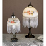 "8"" H Rose Bouquet Fringed Mini Lamp"