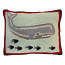 Whale and Fish Hook Pillow
