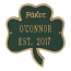 Shamrock Address Plaque, Green Gold
