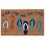 "Liora Manne Natura Flip Flops Indoor/Outdoor Mat Blue 18""X30"""