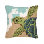 Turtle Waves Hook Pillow