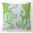 Green Octopuses Hook Pillow