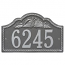 Personalized Rope Shell Arch Plaque Wall, Pewter Silver