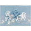 White Coral Reef Indoor Outdoor Rug, 22 x 34 in.