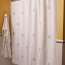 Coral Embroidered Shower Curtain