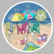 Beach Clock Round