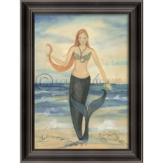 Good Morning Ocean City Mermaid Framed Art