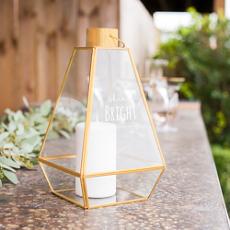 """""""Shine Bright"""" Gold Metal Lantern"""