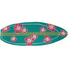 Surfboard Hibiscus Rug