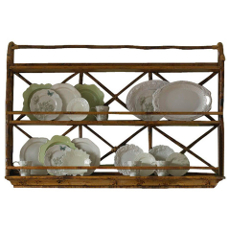 Coastal Rattan Wall Display Plate Rack