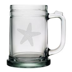 Starfish, Tankard Beer Mugs, 15Oz,  S/4