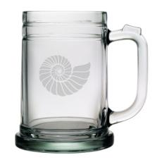Nautilus Shell, Tankard Beer Mugs, 15oz,  S/4