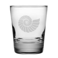 Nautilus Shell, DOF, 13.25oz., Glass S/4