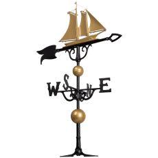 """46"""" Yacht Weathervane, Gold / Bronze"""