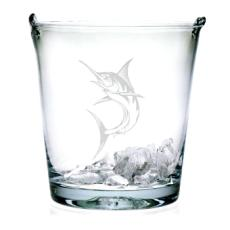 Marlin Etched Ice Bucket